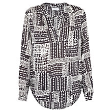 Buy Velvet Luca Printed Blouse, Grey/Nude Online at johnlewis.com
