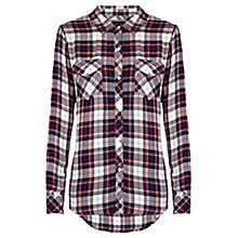 Buy Rails Carmen Button Down Shirt, White /  Navy  / Red Online at johnlewis.com