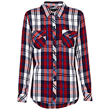 Buy Rails Carmen Button Down Shirt, Cherry / Navy Online at johnlewis.com