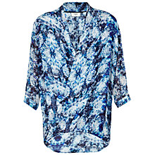 Buy Pyrus Isis Drape Print Top, Solstice Blue Online at johnlewis.com