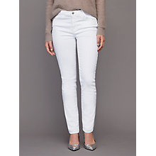 Buy J Brand Mid Rise Cropped Rail Leg Jeans, Blanc Online at johnlewis.com