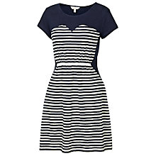 Buy Fat Face Banbury Jacquard Stripe Dress, Navy Online at johnlewis.com