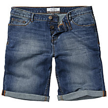 Buy Fat Face Denim Bermuda Shorts, Opal Blue Online at johnlewis.com