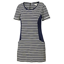 Buy Fat Face Striped Jacquard Tunic Dress, Navy Online at johnlewis.com