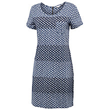 Buy Fat Face Tenby Batik Dress, Dark Chambray Online at johnlewis.com