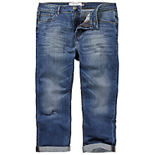 Buy Fat Face Cropped Jeans, Opal Blue Online at johnlewis.com
