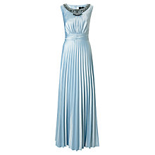 Buy Ariella Pietra Bead Maxi Dress, Silver / Blue Online at johnlewis.com