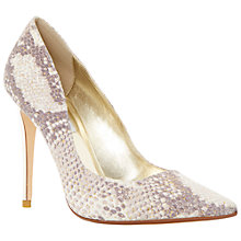 Buy Dune Brooks Extreme Pointed Toe Court Shoes, Grey Online at johnlewis.com