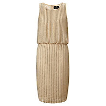 Buy Ariella Rebecca Sequin Shift Dress, Gold Online at johnlewis.com