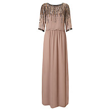 Buy Ariella Mary Embellished Neck Dress, Dusky Pink Online at johnlewis.com