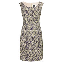 Buy Adrianna Papell Lace Sheath Dress, Gunmetal Online at johnlewis.com