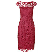 Buy Adrianna Papell Cap Sleeve Lace Dress, Lacquer Online at johnlewis.com