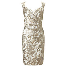 Buy Ariella Elsa Wrap Lace Shift Dress, Champagne Online at johnlewis.com