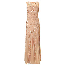 Buy Ariella Karla Sequin and Bead Gown, Blush Online at johnlewis.com