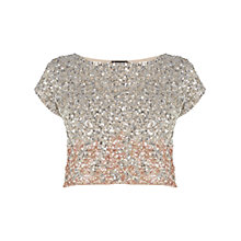 Buy Coast Iridesa Top, Blush Online at johnlewis.com