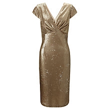 Buy Ariella Thalia Shift Dress, Gold Online at johnlewis.com