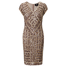 Buy Ariella Emily Sequin Mini Cocktail Dress, Dusky Pink/Gold Online at johnlewis.com
