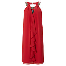 Buy Ariella Kiara Ruffle Short Dress, Scarlet Online at johnlewis.com