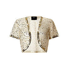 Buy Ariella Vera Sequin and Bead Bolero, Gold Online at johnlewis.com