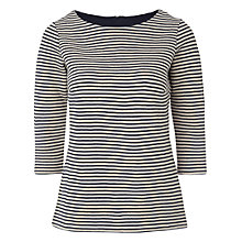 Buy White Stuff Jade Stripe T-Shirt, Off White / Navy Online at johnlewis.com