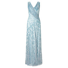 Buy Ariella Juliet Sequin Maxi Dress, Silver/Blue Online at johnlewis.com