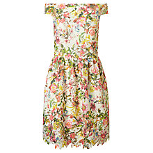 Buy Ariella Cece Printed Lace Fit Flare Mini Dress, Multi Online at johnlewis.com