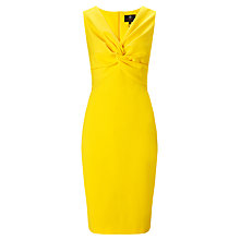 Buy Ariella Alba V-Neck Bodycon Dress, Yellow Online at johnlewis.com