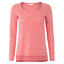 Buy White Stuff Jasia Spot Hem T-Shirt, Rosie Pink Online at johnlewis.com
