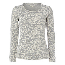 Buy White Stuff Rose Jacquard Sweatshirt, Grey Online at johnlewis.com