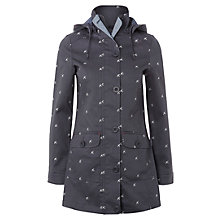 Buy White Stuff Canal Embroidered Mac, Dew Grey Online at johnlewis.com