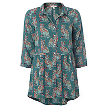 Buy White Stuff Cats Print Tunic Top, Dragonfly Online at johnlewis.com