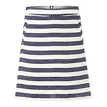 Buy White Stuff Stripe Skirt, Navy Online at johnlewis.com