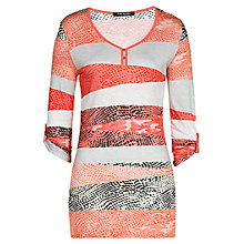 Buy Betty Barclay Splodge And Stripe Top, Apricot Online at johnlewis.com