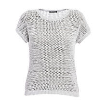 Buy Betty Barclay Crochet Jumper, Silver Online at johnlewis.com
