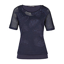 Buy Betty Barclay Double Layer Net T-Shirt, Night Sky Online at johnlewis.com