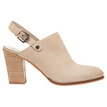 Buy Mint Velvet Kirsty Sling Back Nubuck Shoe Boots, Stone Online at johnlewis.com