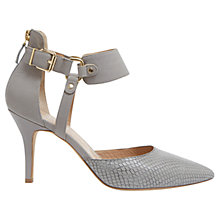 Buy Mint Velvet Arizona Leather Court Shoes, Grey Online at johnlewis.com