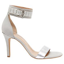 Buy Mint Velvet Sofia Leather High Heel Sandals, Grey Online at johnlewis.com