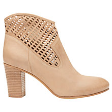 Buy Mint Velvet Harley Leather Ankle Boots, Natural Online at johnlewis.com