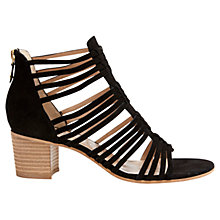 Buy Mint Velvet Romy Suede Strap Sandals, Black Online at johnlewis.com