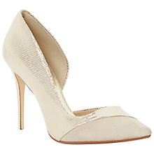 Buy Dune Clarisa Pointed Court Shoes, Champagne Online at johnlewis.com