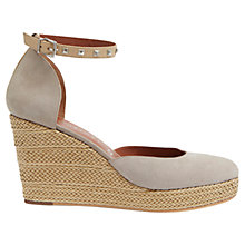 Buy Mint Velvet Lily Leather Wedges, Mink Online at johnlewis.com