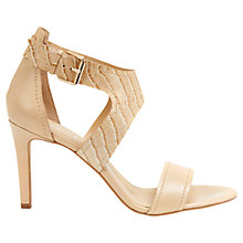 Buy Mint Velvet Kiera Leather High Heel Sandals, Natural Online at johnlewis.com