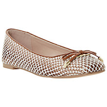 Buy Dune Heanda Square Toe Pumps, Neutral Online at johnlewis.com