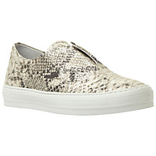 Buy Dune Black Emmy Reptile Laceless Leather Plimsolls Online at johnlewis.com