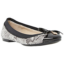 Buy Dune Maeby Leather Pumps, Grey Online at johnlewis.com