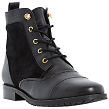 Buy Dune Phedra Leather Lace Up Boots Online at johnlewis.com