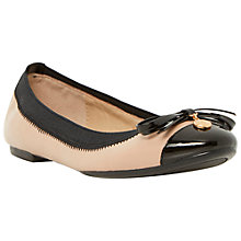 Buy Dune Maeby Metal Coin Trim Leather Ballerina Pumps Online at johnlewis.com