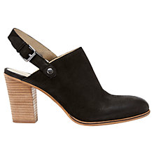 Buy Mint Velvet Kirsty Leather Mule Shoe Boots, Black Online at johnlewis.com
