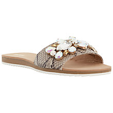 Buy Dune Kreme Reptile Jewelled Sliders, Grey Online at johnlewis.com